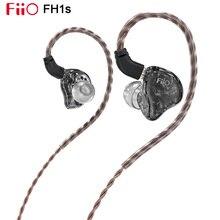 FiiO FH1s yüksek çözünürlüklü 1BA(Knowles)+ 1DD kulak içi kulaklık IEM ile 2pin/0.78mm ayrılabilir yüksek saflıkta Litz bakır kablo