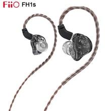 Fiio FH1s Hi Res 1BA(Knowles)+ 1DD In Ear Oortelefoon Iem Met 2pin/0.78Mm Afneembare Hoge Zuiverheid Litz Koperen Kabel