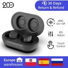 DualRad/ 20 Decebel TWS אוזניות ANC על/כיבוי חכם בקרת Bluetooth 5.0 היברידי פעיל רעש ביטול
