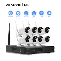 Security Camera System Wireless 8CH NVR Kit 720P Outdoor Waterproof IP Camera Wifi Video Surveillance Set 4CH CCTV Camera System
