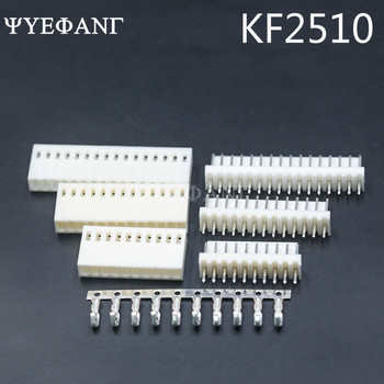 10 Set KF2510 Connector Kits 2.54mm Pitch 2/3/4/5/6P Straigh Pin Header+Housing+Crimp image