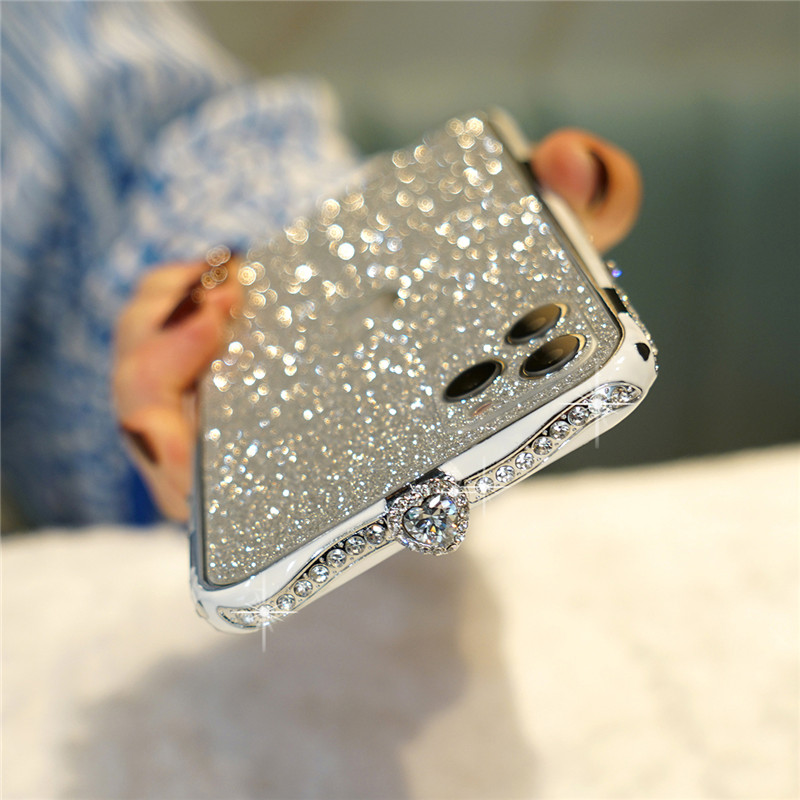 Metal Diamond Bumper Case For iPhone