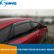 Window Shield Cover For  Ford Focus 2012 2013 2014 2015 2016 2017 2018  sedan  Sun Shade Awnings Shelters Guards SUNZ car styling window visors for ford foucs 3 sedan hatchback 2012 2013 2014 2015 sun rain shield stickers awnings shelter