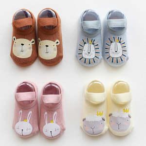 Room-Shoes Non-Slip Toddler Newborn-Baby Children's Print Glue Anti-Drop Firstwalker