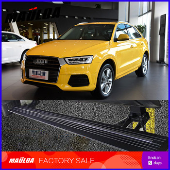 Car Accessories High quality aluminium alloy Automatic scaling Electric pedal side step running board for Q3 2013 +