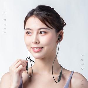 Image 5 - Draadloze Oortelefoon Hals Opknoping Sport Oortelefoon Bluetooth 5.0 Headset Smartphone Tablet Hoofdtelefoon, Rood