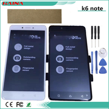 5.5 Inch B/W/G color with Lcd For Lenovo K6 Note Full LCD Display Digitizer Touch Panel Screen Assembly with Frame+3M Tape Tools