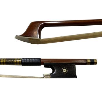 1 sztuk skrzypce łuk pełny wymiar 4 4 heban żaba złota kolorowe powłoki prosto Brazilwood skrzypce skrzypce skrzypce część tanie i dobre opinie YINFEEL MUSICAL Skrzypce użytkowania