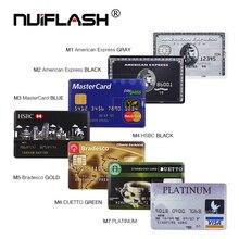 Tín Dụng Thẻ Ngân Hàng HSBC MasterCard Bradesco Thẻ Nhớ Flash Usb 8GB 16GB USB Đèn LED 32GB 64GB 128GB Ổ Bút