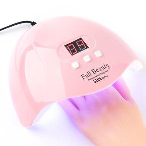 Image 1 - Ensemble de lampes Gel pour manucure 54W lampe à UV LED, séchage à la lumière du soleil, séchage des ongles, vernis hybride, TRSUN X3Plus