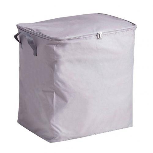 Портативная Пылезащитная домашняя сумка для хранения из ткани Оксфорд, органайзер для одежды, складной чехол - Цвет: Grey