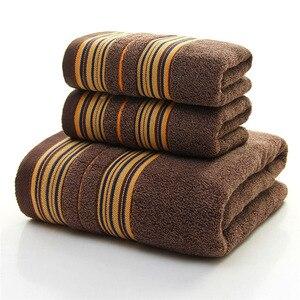Image 5 - GIANTEX 3 Stück Baumwolle Handtuch Set Bad Super Absorbent Bad Handtuch Gesicht Handtücher Für Erwachsene serviette de bain toallas recznik