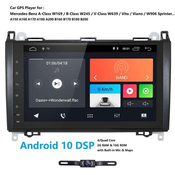9DSP RDS Rear Cam Android Car GPS Navigation no Player For Mercedes Benz B200 A B Class W169 W245 Viano Vito W639 Sprinter W906 image