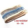 100 шт. 1/4W металлический пленочные резисторы 1% 47K 51K 56K 62K 68K 75K 82K 91K 100K 110K 120K 130K 150K 160K 180K 200K 220K 240K 270K ohm