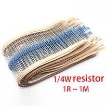 100 peças 1/4w resistor de filme de metal 1% 47k 51k 56k 62k 68k 75k 82k 91k 100k 110k 120k 130k 150k 160k 180k k k 200k 220k 240k 270k ohm