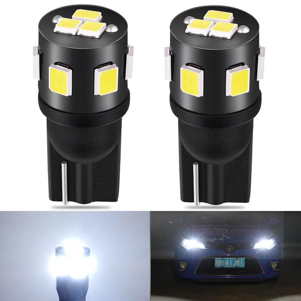 2 шт. Canbus T10 W5W автомобиля светодиодный лампы 168 194 Автомобильные стояночные огни для Toyota RAV4 Yaris Camry 2007 2008 2009 Corolla Auris Avensis Prius