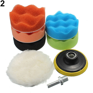 Image 4 - 7 Pcs 3/5/6/7 Inch Sponge Car Polishing Waxing Pad Buffing Kit Polishing Attachment Drill Polishing Pad Set For Boat Car Polishe