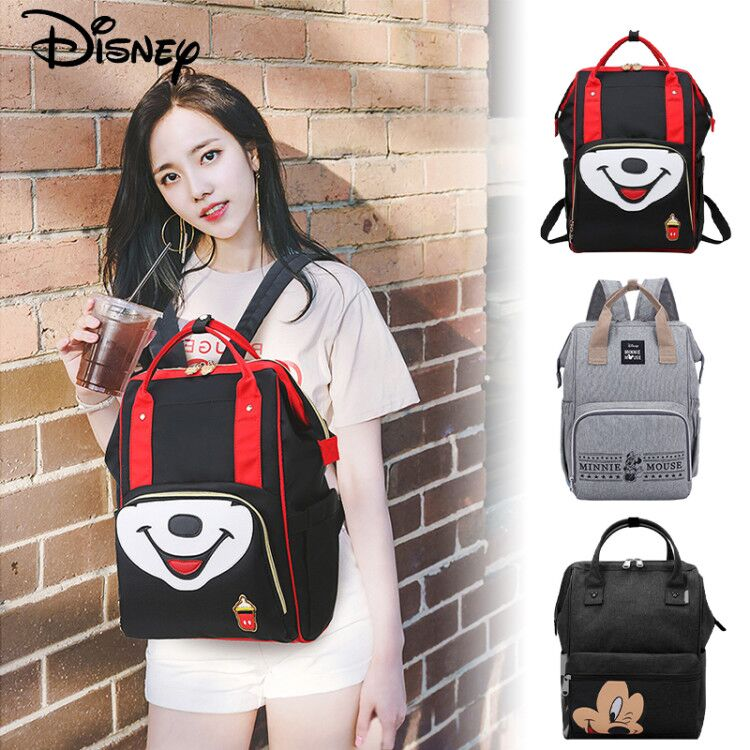 Disney Mickey Minnie Mummy Maternity Nappy Bag Backpack Large Capacity Baby Bag Stroller Diaper Bag For Baby Care Insulation Bag