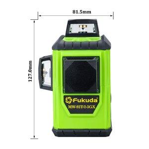 Image 5 - Fukuda Quay Laser 360 12 Đường 3D Xanh Tia Cấp Laser Tự Cân Bằng Độ Cao Ngang Dọc Chéo Laser Thẳng MW 93T Mới