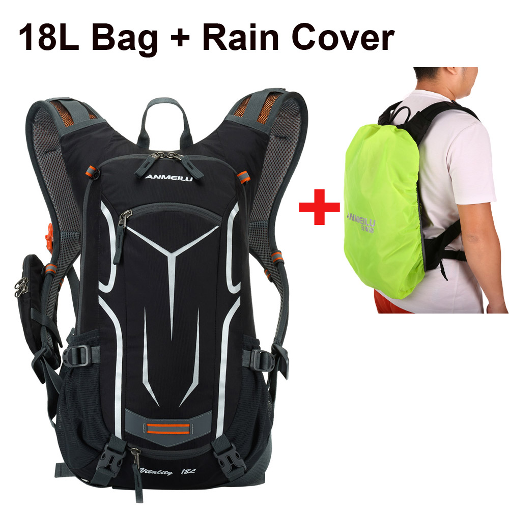 Lixada Waterproof Bicycle Bag Cycling Backpack With Rain Cover 18L Breathable Hike Camping MTB Mountain Bike Hydration Backpack
