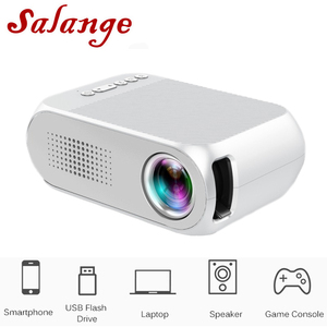 Salange YG320 Mini LED Projector Yg300 Upgraded Version 600 lumen 320x240 Pixels HDMI USB Audio Home Media Player Beamer(China)