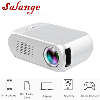 Salange YG320 Mini LED Projector Yg300 Upgraded Version 600 lumen 320x240 Pixels HDMI USB Audio Home Media Player Beamer