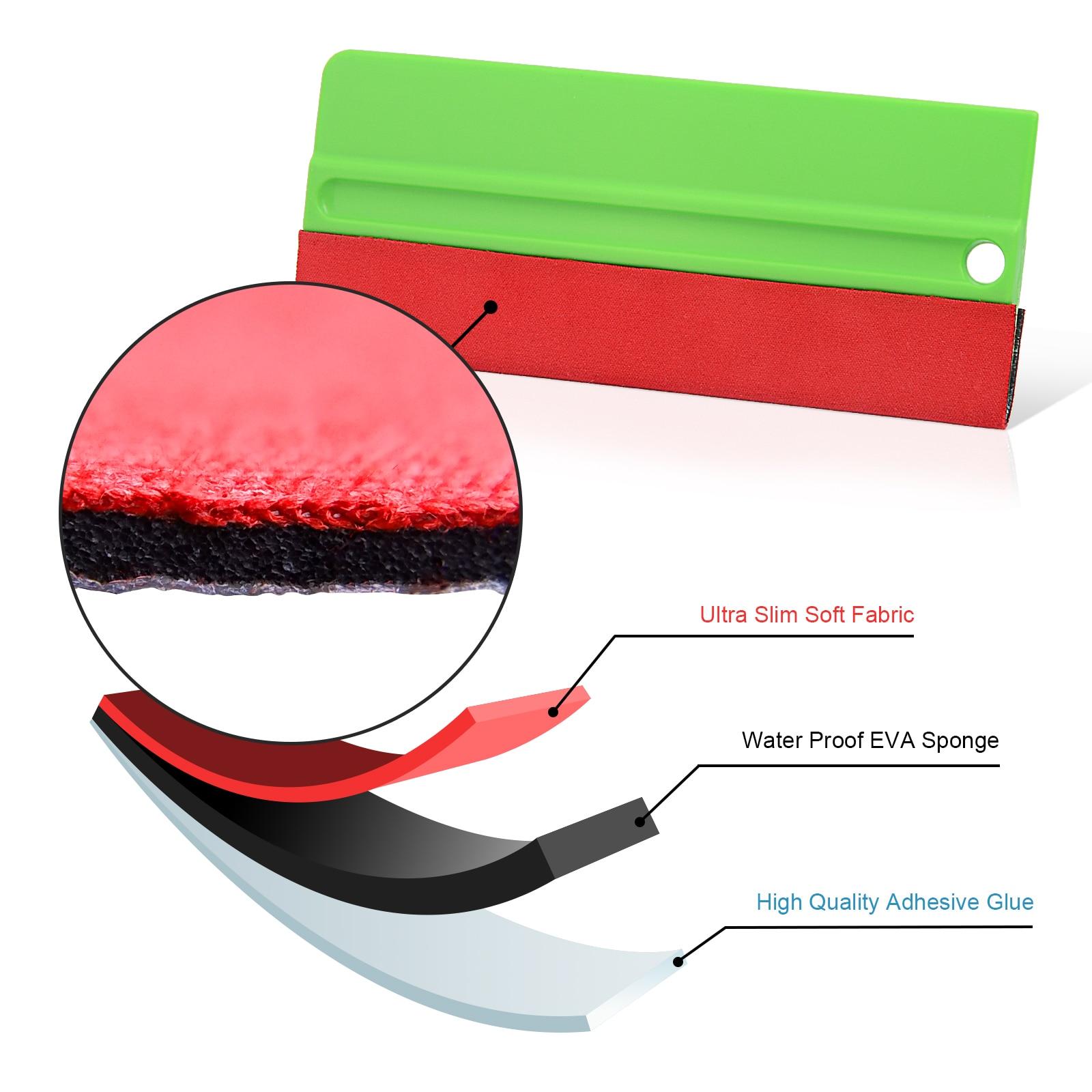 Pro 6in1 Felt Squeegee Vinyl Car Wraps Tools Kit 5M Knifeless Car Sticker Design