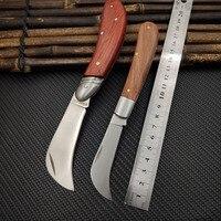 FD-021 faca de lâmina dobrável faca aço stainess faceta faca papel parede rosewood lidar com bolso eletricista faca utilitário
