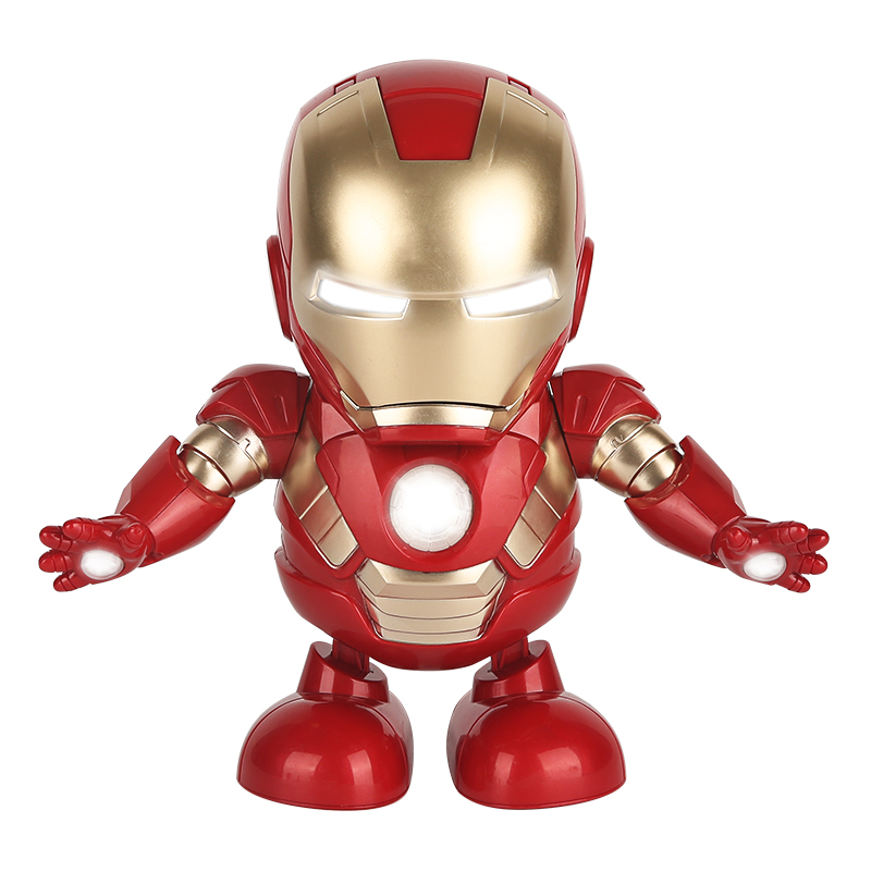Can Dance Iron Man Battery LED Toy Light With Music Flashlight Birthday Christmas Present For Kids Novelty Night Light