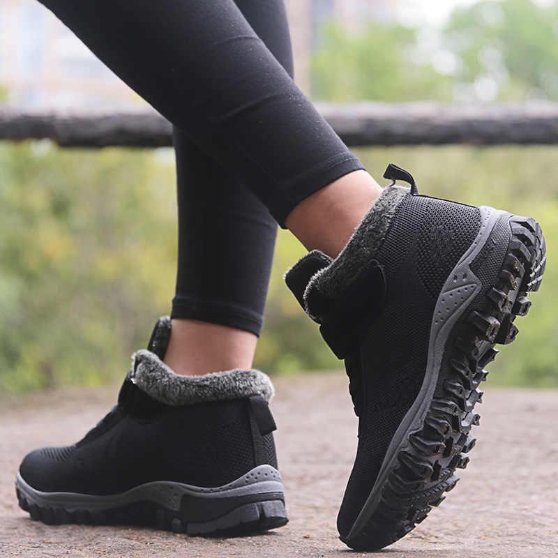 Женская обувь на меху; зимние ботинки; кроссовки на плоской подошве; теплая прогулочная обувь; женская повседневная обувь на резиновой подошве; женская обувь; botas; модные Tenis