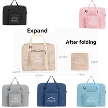 Дорожная сумка для хранения одежды через плечо, водонепроницаемая складная сумка на колесиках