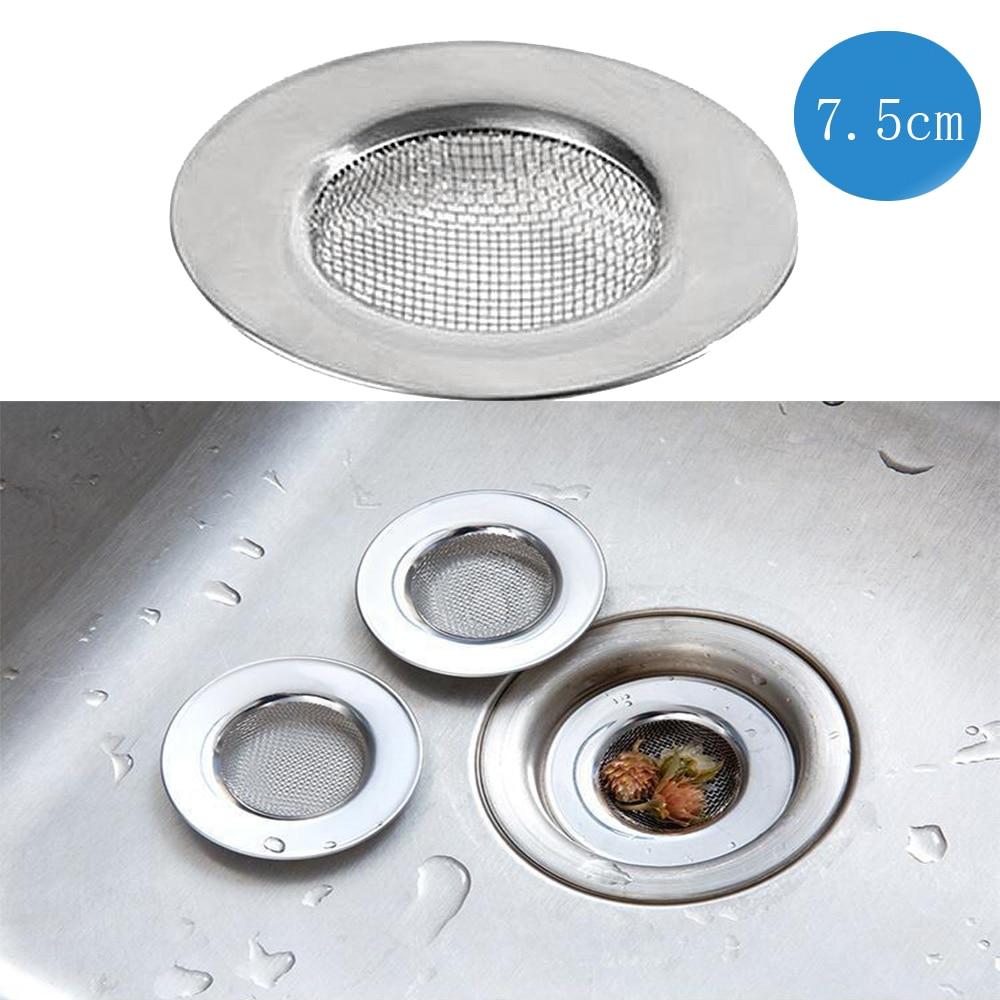 RecabLeght Kitchen Floor Drain Stainless Steel Shower Sink Drain Cover Hair Catcher Filter 7.5cm/7cm/9cm Bath Sink Plug Strainer