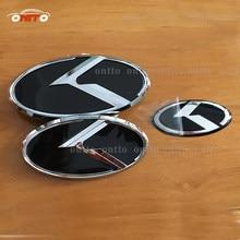 3 шт. новый автомобильный логотип K эмблема значок наклейка для K5 автостайлинг Optima передний задний багажник рулевое колесо эмблема значок