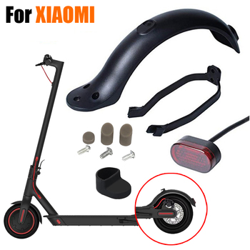 Rear Mudguard Fender Guard + Bracket + Hook +Taillight for Xiaomi M365 Electric Scooter 1 set scooter rear back fender mudguard screws rubber cap electric screw plug cover for xiaomi mijia m365 electric scooter parts