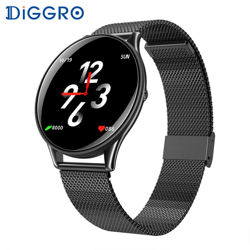 Diggro SN58 Relógio Inteligente À Prova D' Água Freqüência Cardíaca Pressão Arterial Tela Sensível Ao Toque Bluetooth Smartwatch Pulseira Para IOS Android PK Q8