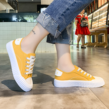 Women sneakers new arrivals fashion lace-up black white yellow women shoes solid