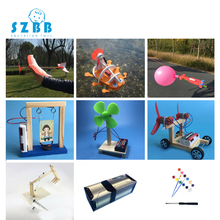 2019 Real Saizhi 9sets Diy Children Science Project Toys Kits Wood Kids Physical Experiments Toy Set Assembled Car Educational