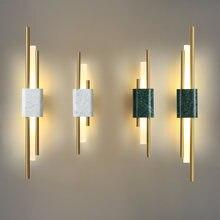 Новый мраморный светодиодный настенный светильник в китайском