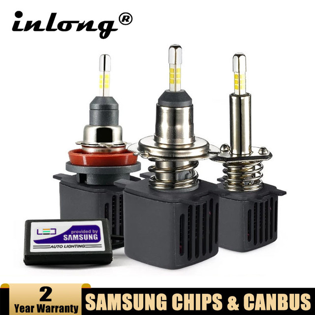 Светодиодная лампа H7 Canbus, светодиодные лампы H1 с чипами Samsung H11 H4, Светодиодные Автомобильные фары H8 9005 HB3 9006 HB4, светодиодная лампа, противотуманные фары лм