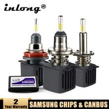 H7 Led Canbus Lampada H1 Led Bulbs With Samsung Chips  H11 H4 LED Car Headlight H8 9005 HB3 9006 HB4 Led Lamp 15000LM Fog Lights