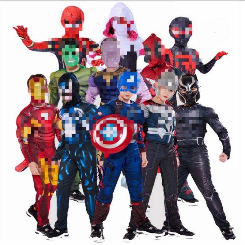 Superhero Cosplay Costume For Boys Carnival Halloween Costume For Kids Super Heroes
