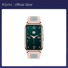 M juniu Women Smart Watch 1.57 Inch Waterproof Screen Fitness Tracker Smartwatches Men Heart Rate Monitor Watch For Huawei Phone