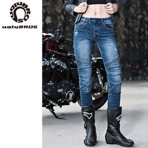 Image 4 - Uglybros Featherbed Herfst Winter Motorfiets Broek Vrouwen Outdoor Riding Broek Beschermende Warm Ademend Motorbike Jeans