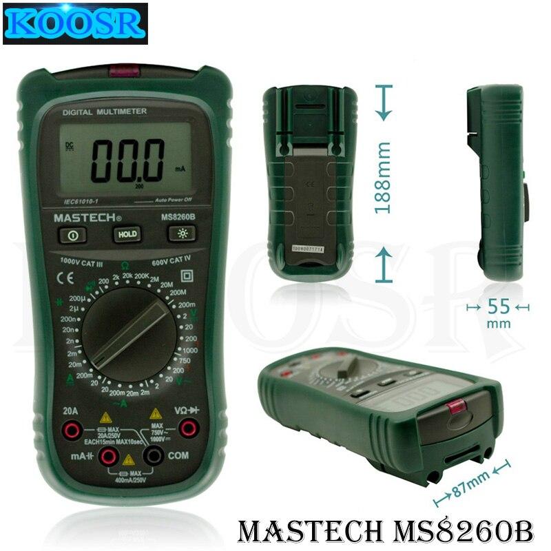Mastech MY6013A Multímetro Probador Medidor De Capacitancia Digital tecrep Condensador