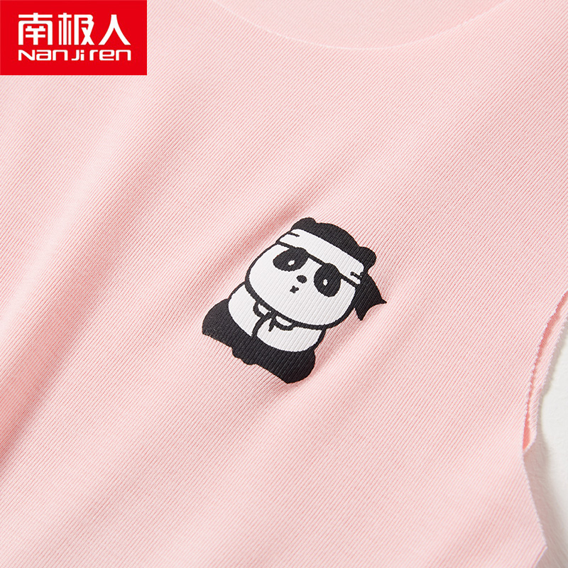 NANJIREN child tops Summer Sleeveless Tank Tops For Child Modal Casual T Shirt Cool Breathable Solid Color Elasticity Base Shirt 4