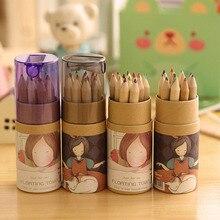 Coloring Pencil Drawing-Set Painting School-Supplies Wooden 12-Color/Set Children Cute