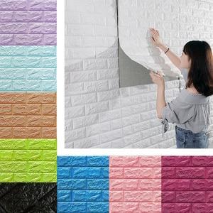 Image 5 - 3D Wall Stickers Imitation Brick Bedroom Decor Waterproof Self adhesive Wallpaper For Living Room Kitchen TV Backdrop Decor