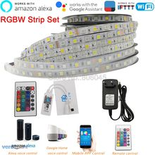 DC12V 5050 LED şerit RGBW RGBWW 60LEDs/m 5m mini 24Key IR WiFi denetleyici 3A güç kaynağı ledi şerit seti destek APP kontrolü