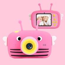 Enfants mini caméra complète hd 1080 p numérique portable caméra vidéo photo 2 Polegada écran affichage enfants forkid jeu étude