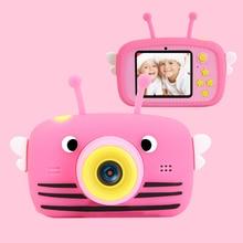 Mini câmera infantil hd 1080 p, câmera de vídeo portátil, tela polegada completa, exibição de jogos infantis, para crianças